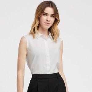 UNIQLO short sleeve white button up